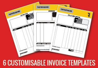 6 Customisable Invoice Templates