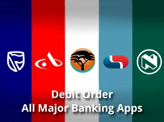 debit order and all major banking apps
